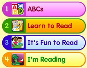 Learn to read website for children.